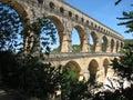 Pont du Gard aqueduct Royalty Free Stock Photo