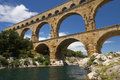 The Pont du Gard in France Stock Photography