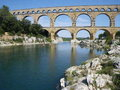 Pont Du Gard in France, World Heritage Site Royalty Free Stock Images