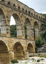 Pont du gard languedoc roussillon france the famous bridge unesco world heritage site Stock Photos
