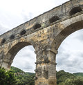 Pont du gard languedoc roussillon france the famous bridge unesco world heritage site Royalty Free Stock Images