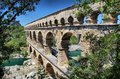 Pont du Gard, Nimes, South France Royalty Free Stock Photo