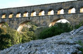 Pont du Gard, a Roman aqueduct in France Stock Images