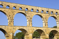 Pont du gard roman aqueduct in southern france near nimes Royalty Free Stock Photo