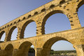 Pont du gard roman aqueduct in southern france near nimes Stock Photography