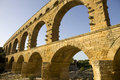 Pont du gard roman aqueduct in southern france near nimes Stock Photo