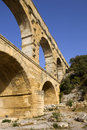 Pont du gard roman aqueduct in southern france near nimes Royalty Free Stock Images