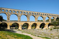 Pont du gard roman building aqueduct is unesco world heritage site france Stock Photos