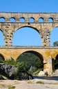 Pont du gard roman building aqueduct is unesco world heritage site france Royalty Free Stock Photography