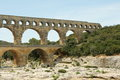 Pont du Gard in South of France Royalty Free Stock Photo