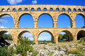 Pont du Gard, south of France Royalty Free Stock Photo