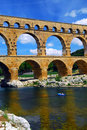 Pont du Gard in southern France Stock Photos