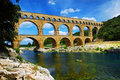 Pont du Gard in southern France Royalty Free Stock Image