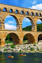 Pont du Gard in southern France Stock Images