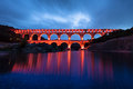 The pont du gard southern france europe bridge of is an ancient roman aqueduct bridge that crosses gardon river in vers near Royalty Free Stock Image
