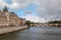 Pont Neuf and Chatelet Paris Stock Photo