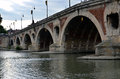 Pont neuf the french for new bridge a k a de pierre and grand is a th century bridge in toulouse in the south of france Stock Image