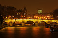 Pont Neuf over the river Seine Stock Photography