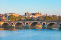 The Pont Neuf in Toulouse in summer Royalty Free Stock Photo