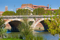 The pont neuf in toulouse in a sunny day Stock Image