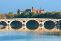 Pont neuf in toulouse the a sunny summer day Royalty Free Stock Photography