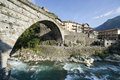 Pont-Saint-Martin Royalty Free Stock Images