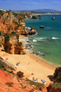Ponta de piedade in lagos algarve region portugal beautiful cliffs of Royalty Free Stock Image