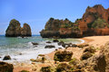 Ponta de piedade in lagos algarve region portugal beautiful cliffs of Stock Photo