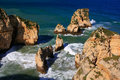 Ponta de piedade in lagos algarve region portugal beautiful cliffs of Stock Photos
