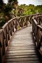 Ponte da madeira de Brown Imagens de Stock Royalty Free