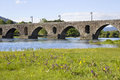Ponte de lima roman bridge of in portugal Stock Images