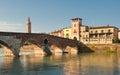 Ponte Pietra bridge, Verona, Italy Stock Photography