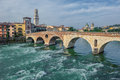Ponte pietra bridge verona italy image of Royalty Free Stock Photos