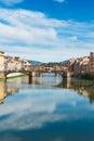 Ponte Santa Trinita bridge over the Arno River Royalty Free Stock Photo