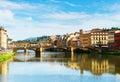 Ponte Santa Trinita bridge over the Arno River, Florence Royalty Free Stock Photo