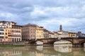 Ponte Santa Trinita over Arno river in autumn Royalty Free Stock Photo