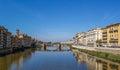 Ponte Santa Trinita over the Arno River in Florence Royalty Free Stock Photo