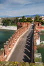 Ponte scaligero in verona italy medieval bridge of built th century near castelvecchio Stock Photos