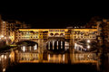 Ponte Vecchio, Arno night, Florence, Firenze Italy Royalty Free Stock Photo
