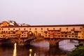 Ponte Vecchio Bridge Across Arno River Royalty Free Stock Photo