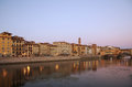 Ponte vecchio bridge across arno river in florence italy Stock Image