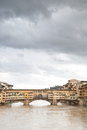 Ponte vecchio bridge florence italy Stock Images