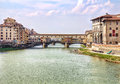 Ponte vecchio bridge in florence picturesque old town tuscany italy Stock Photography