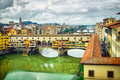 Ponte Vecchio bridge in Florence Royalty Free Stock Photo