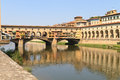 Ponte Vecchio Bridge, Florence, Tuscany Stock Photography