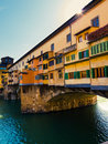 Ponte vecchio city of florence old bridge italy Royalty Free Stock Photos