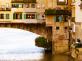 Ponte vecchio city of florence old bridge italy Stock Photos