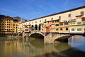Ponte vecchio in florence bridge and arno river tuscan italy Stock Images