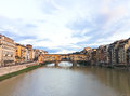 Ponte vecchio in florence italy Stock Photography