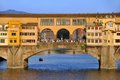 Ponte vecchio florence italy close view of famous old bridge firenze Royalty Free Stock Images